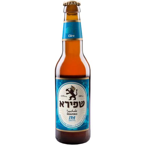 בירה שפירא איי פי איי בקבוק זכוכית