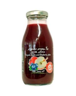 מיץ תפוחים ואוכמניות אורגני