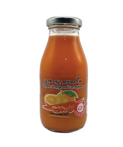מיץ תפוחים וגזר אורגני